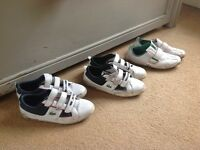 3 pairs of men's Lacoste trainers used size 9 £10 for all 3x pair.