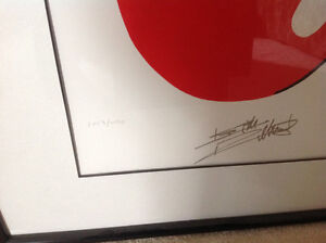 "Rolling Stones Framed ""Lips & Tongue"" Numbered Lithograph Poster Oakville / Halton Region Toronto (GTA) image 2"