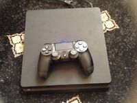 Ps4 500gb slim boxed up 2 games controller