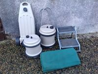 Caravan accessories, Aquaroll, wastemaster steps and awning carpet