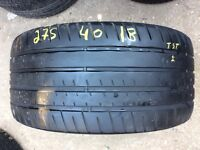 TYRE SHOP 275/40/18 265/35/18 used tyres in pairs FREE FITTINGS