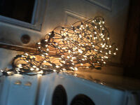 3 sets outdoor shrub lights clear in working order