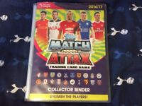 Match Attax 2016/17 Book for sale includes over 350 cards, no doublers
