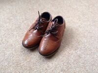River island infants tan leather shoes size 7