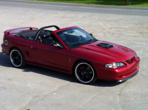 1996 MUSTANG GT COBRA CONVERTIBLE SUPERCHARGED MANUEL 6-VITESSES