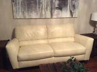 Natuzzi editions Sassi II leather sofa(s)
