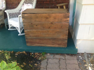 Antique Pine Packing Crate