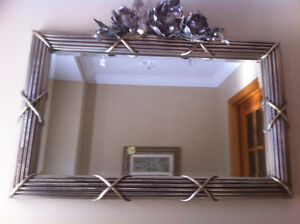 MIRROR WITH SILVER framing size : 37 x 24 inches West Island Greater Montréal image 2