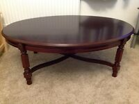 Coffee table new dark wood solid