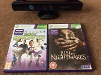 Xbox 360 Kinect + 2 games