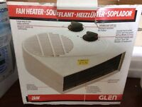 Glen Fan Heater Hardly used in box