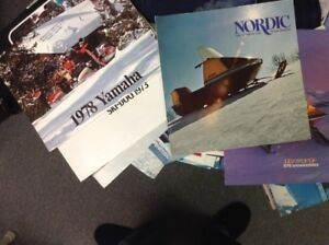 Vintage Snowmobile magazines from the 1970s, fresh from attic