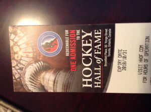 Hockey Hall of Fame Admission passes