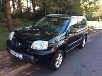 2002 Nissan X-trail Sport 2.0 4x4-80,000 miles-April 2017 mot-service history-great value