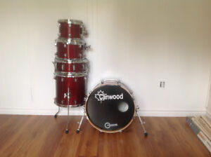 5 price Canwood maple drum set,10,12,14,20, and snare
