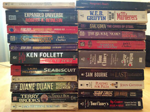 A mix of well loved paperbacks