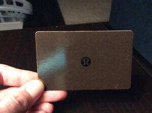 Lululemon $50 fit card