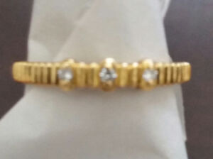 3 Diamond 14k Yellow Gold Ring