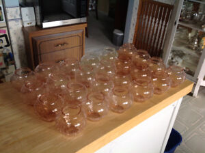 24 glass votive candle holders