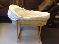 John Lewis Moses basket and Clair de Lune stand
