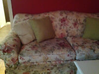 3 piece sofa, love seat, and chair