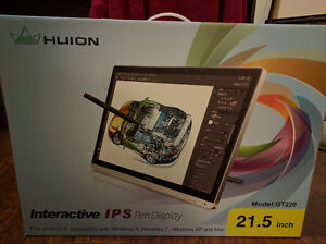 """Brand New Huion GT-220 21.5"""" Graphics Tablet Monitor w/ Pen"""