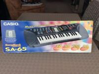 VINTAGE CASIO- SONG BANK KEYBOARD - SA65