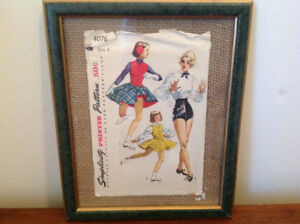 Vintage sewing pattern, Skating and tap dance