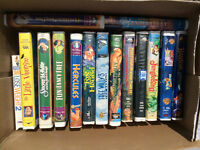Box of kids movies for vcr