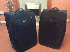 Pair of Shore Black Suitcases