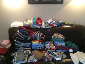 0-9 months boys clothes, mostly 6 months. Over 150 pieces