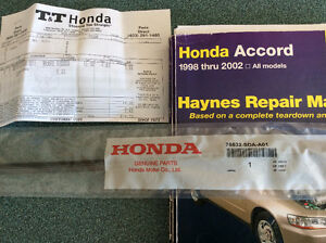 Honda Accord Wiper Blade and Manual
