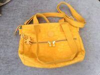 Mustard colour Kipling handbag