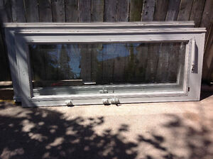 """2-French 32""""W x 80""""H each double glass  storm doors -  $100 each"""