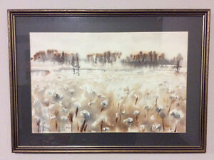 Vintage 1972 watercolour painting by NS/NL artist Gary Saunders
