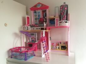 Barbie house with pool