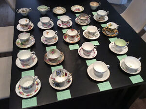 Vintage tea cups Aynsley, Royal Albert, Queen Anne, Foley etc