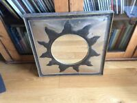 Handmade beaten metal Sun Mirror