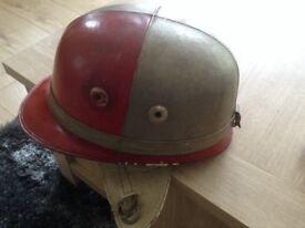 Vintage Corker Motor Cycle Helmet
