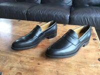 Men's Barker Davenport, Black Leather Shoes, Size 8