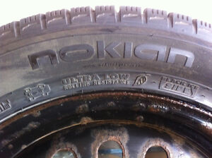 4 Nokian winter tires and rims-excellent condition Strathcona County Edmonton Area image 7