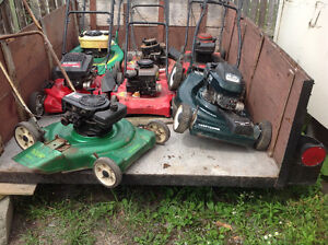 $350. for 9 lawnmower,s
