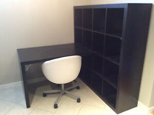 IKEA Shelf unit with attacheable desk and chair