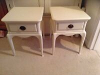 French style Bedside tables / John Lewis Excellent condition