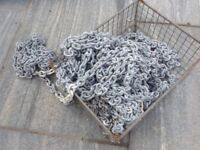 Galvanised boat chain