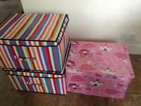 3 kids toy storage boxes