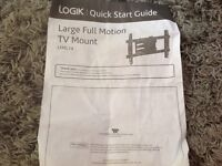 Large full motion TV mount.