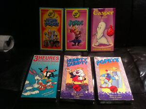 cartoon vintage VHS version fr. RARE casper humpty dumpty etc...