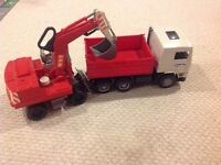 "Tipper and Excavator from ""Bruder"" MOVING SALE"