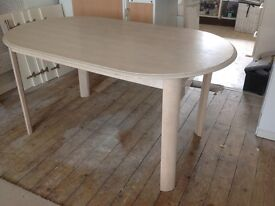 Beige Oval Table seat 6 used